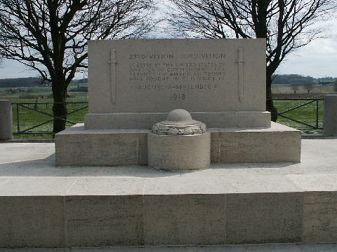 Memorial to the 27th and 30th US Divisions at Vierstraat