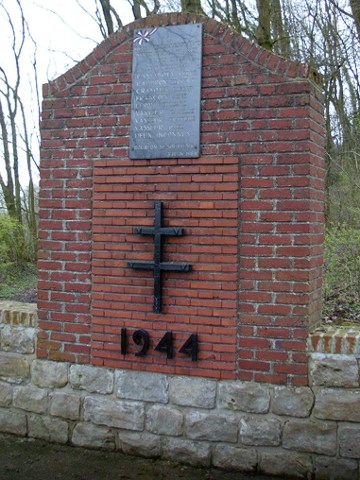 The monument to the Free French Forces at Bourlon
