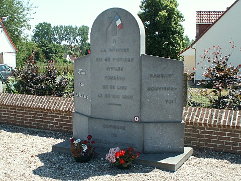 Monument to the SS massacre at Berles Monchel