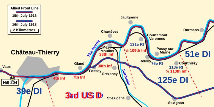 Jaulgonne 15th July 1918