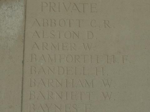 Private Herbert Bamforth